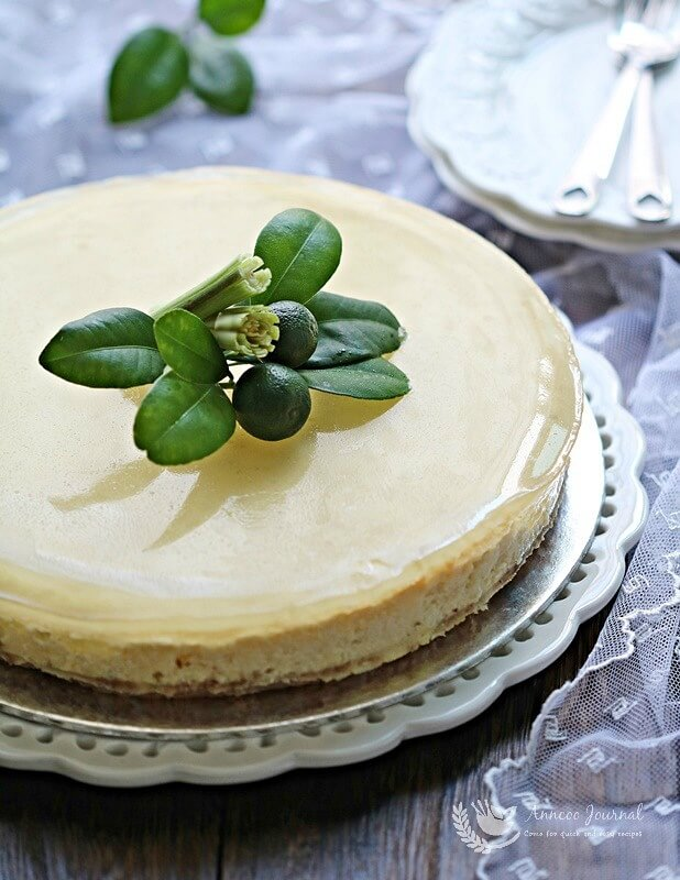lemon grass lime cheesecake