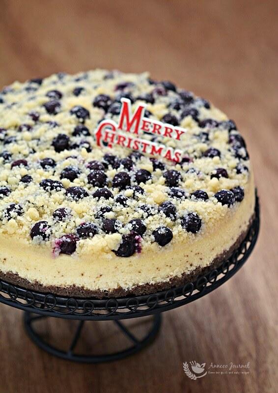 Blueberry Streusel Cheesecake 蓝莓酥粒芝士蛋糕