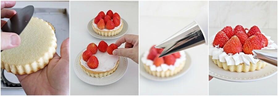 strawberry cake tarts