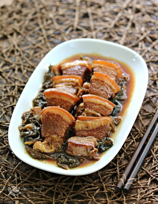 braised pork with mui choy