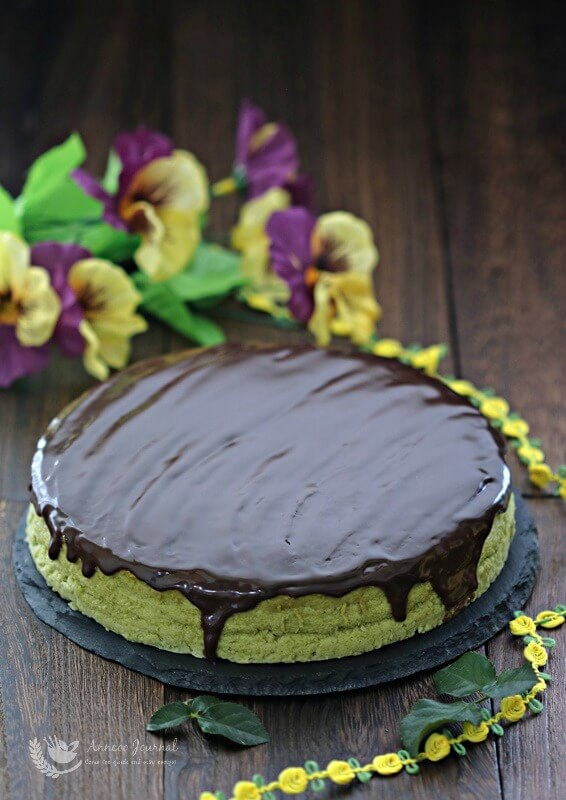 chocolate matcha cheesecake