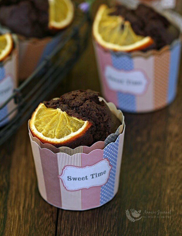 choc orange muffins