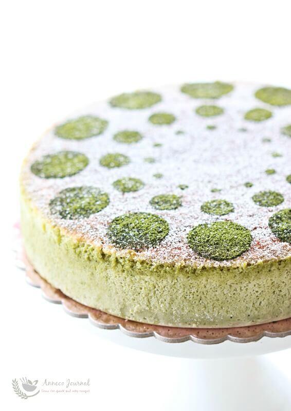 Soufflé Matcha Cheesecake