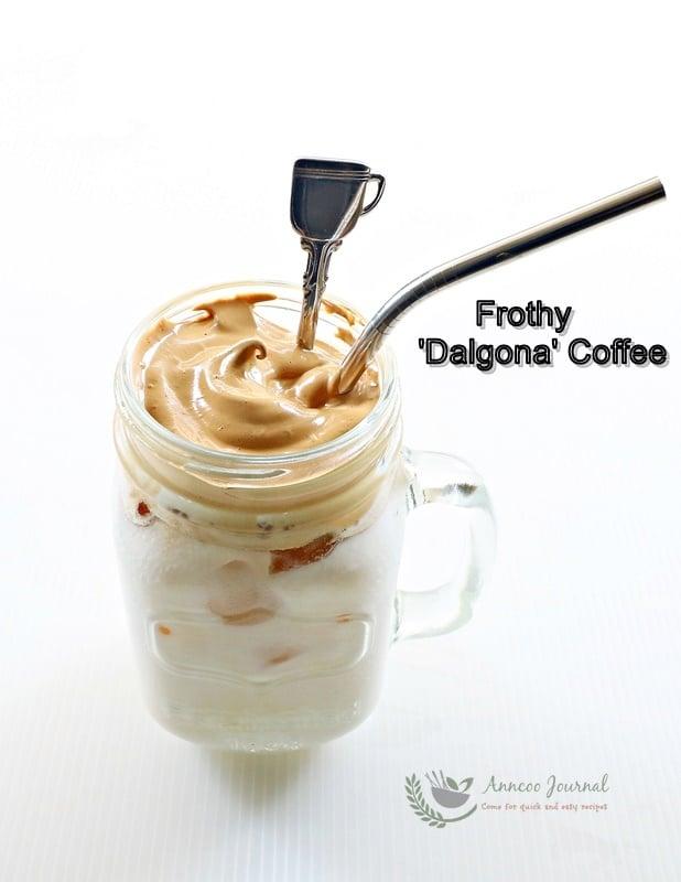 frothy dalgona coffee