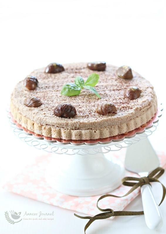 chestnut cream cake