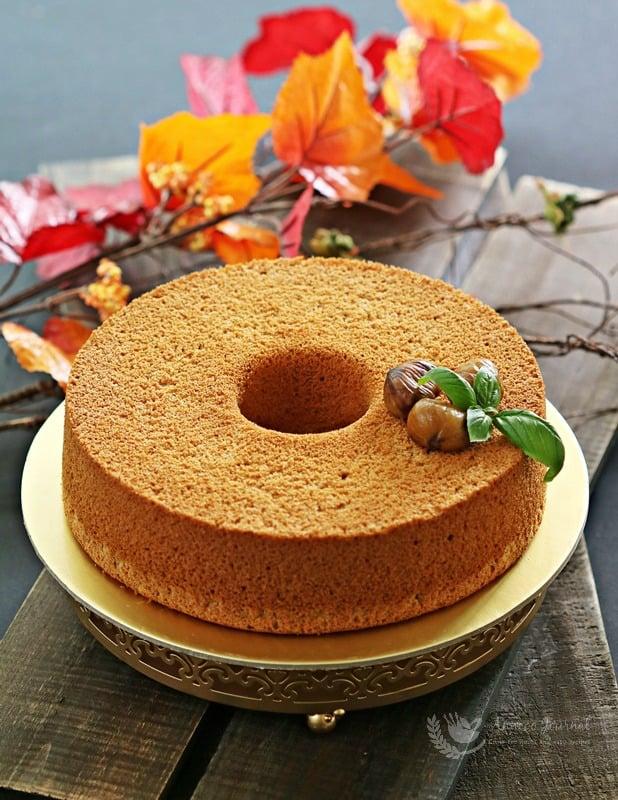 chestnut chiffon cake