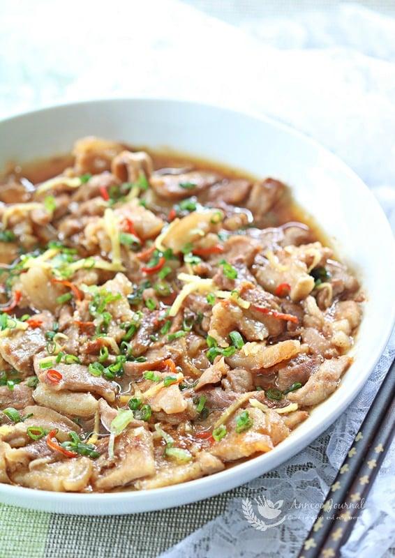 steamed pork belly with shrimp paste