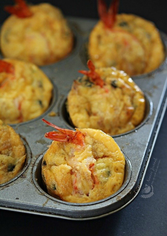 prawn and tuna egg cakes