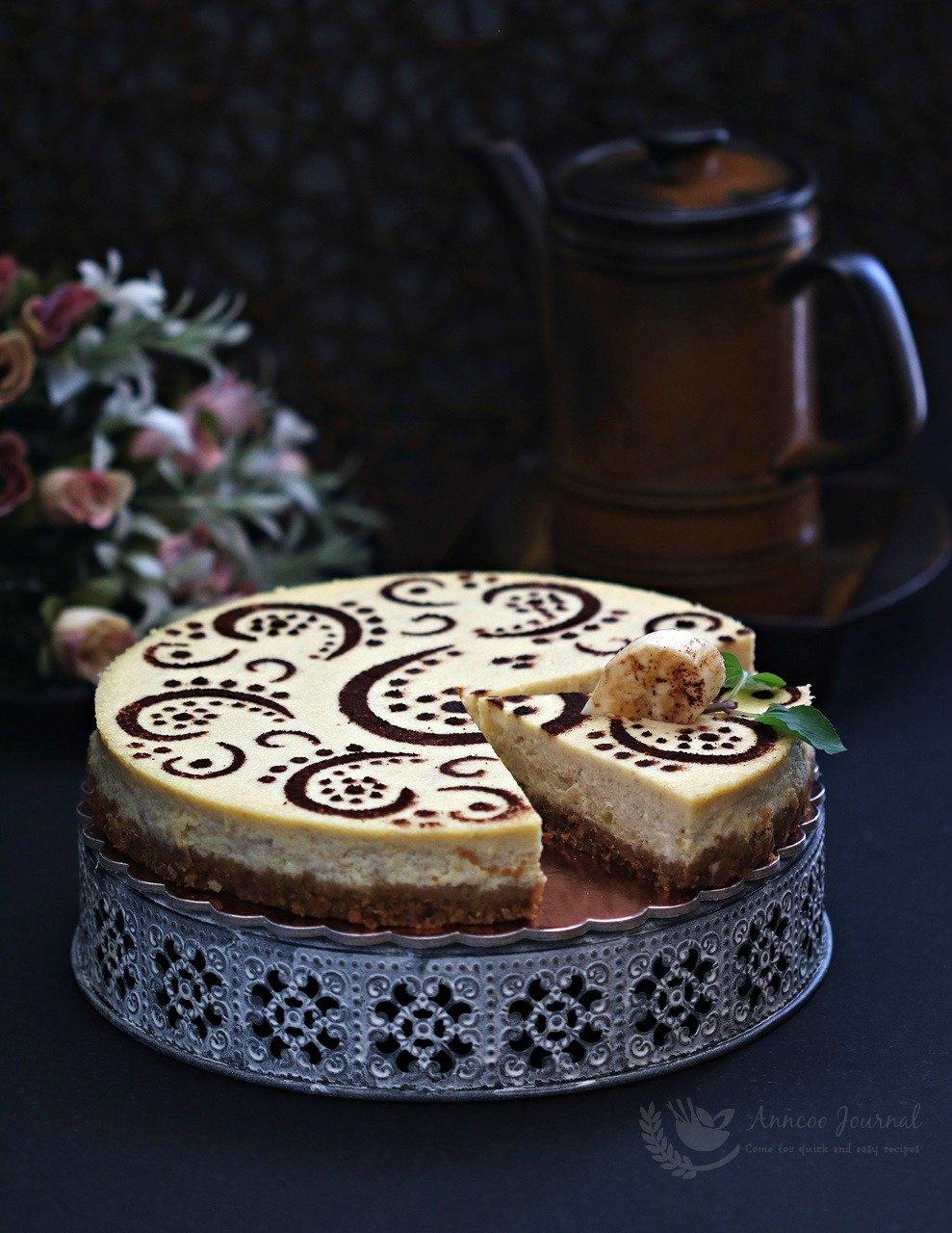 baked banana cheesecake