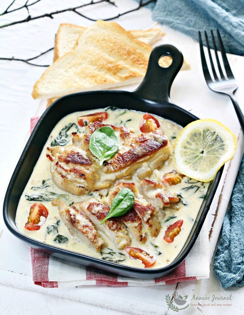one pan creamy chicken