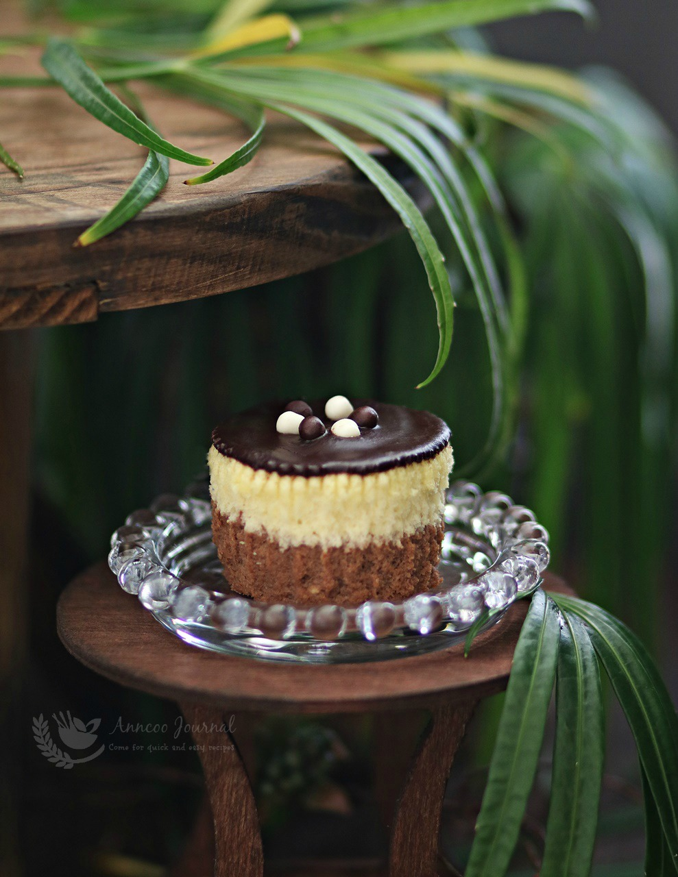 double layer cheese cupcakes