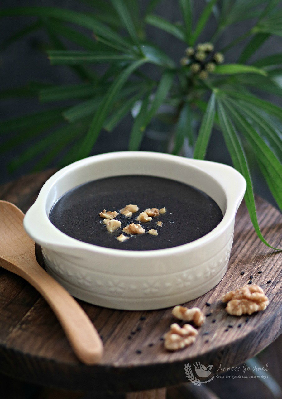 black sesame soup