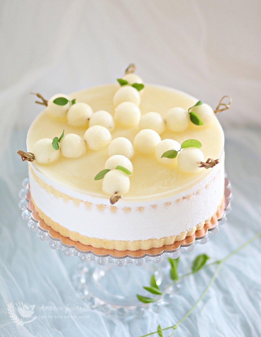 honeydew jelly mousse cake
