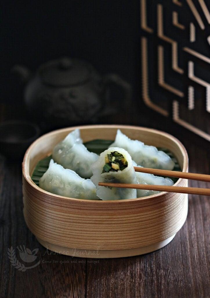 steamed ku chai kueh