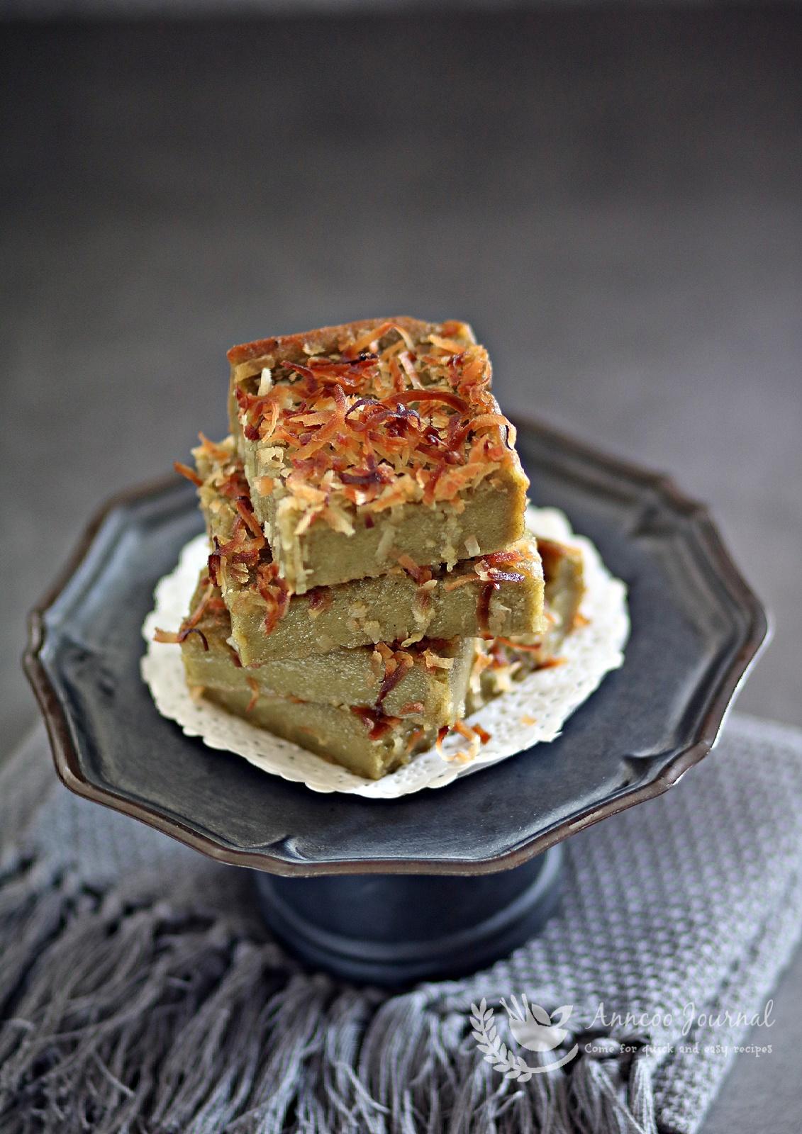 butter matcha mochi cake