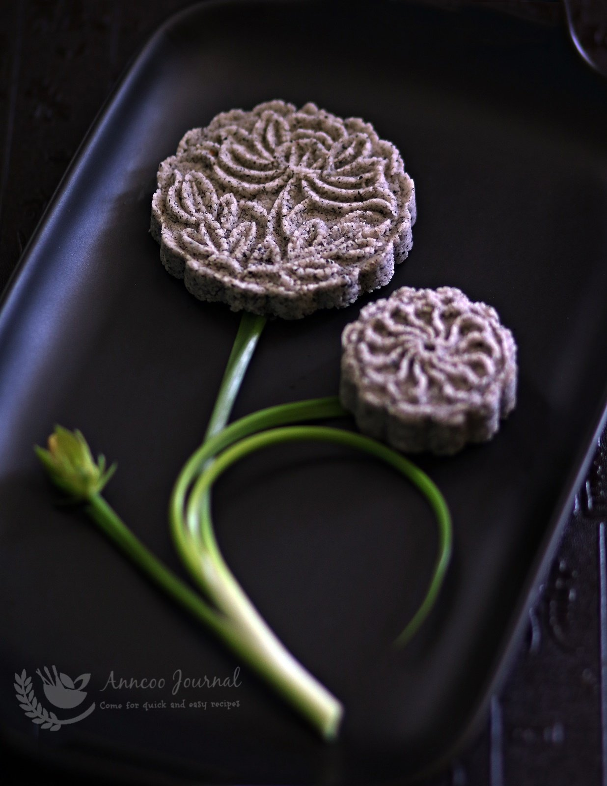 black sesame biscuits