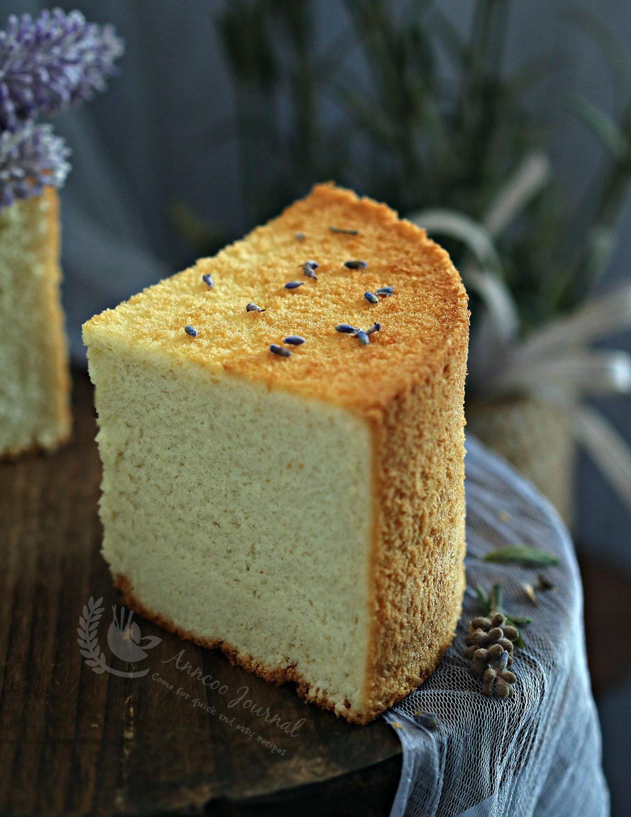 lavender chiffon cake